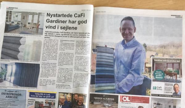 Cafi Gardiner i avisen